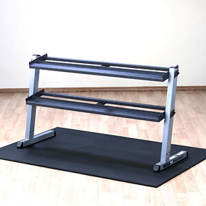 Body-Solid-2-Tier-Horizontal-Dumbbell-Rack-GDR60-Heavy-Duty-Commercial-Storage