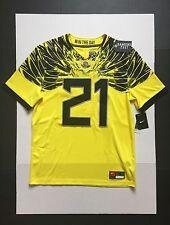 Nike Oregon Ducks Limited plus Football Jersey #21 Yellow Mens  Size M
