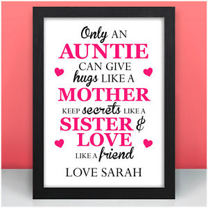 Image Is Loading Only An Auntie PERSONALISED Birthday Gifts For
