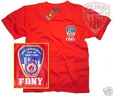FDNY-NY FIRE DEPT/CLOTHING/APPAREL/GEAR/T-SHIRT/RD/MED