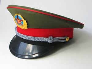 Original Chinese ARMY PLA Type 87 Officer Visor Hat in Perfect ... 0330fa52a0c