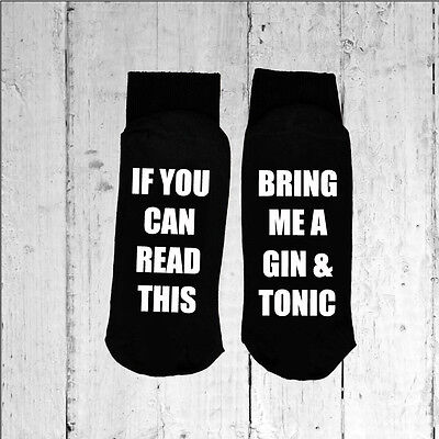 Printed on the Sole size 6-12 If you can read this//Bring me a Gin /& Tonic