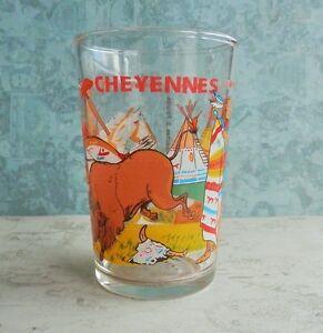 Verre-publicitaire-vintage-CHEYENNES-Apaches-Palutes