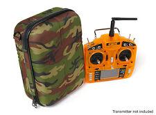 Transmisor caso bolsa 4 JR Spektrum Futaba DJI Coche Aero Compacto & fuerte Camo GRN
