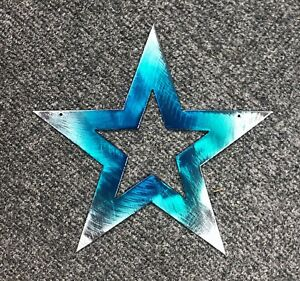 Star-Medium-7-1-2-034-Teal-Tainted-Metal-Wall-Art-Decor
