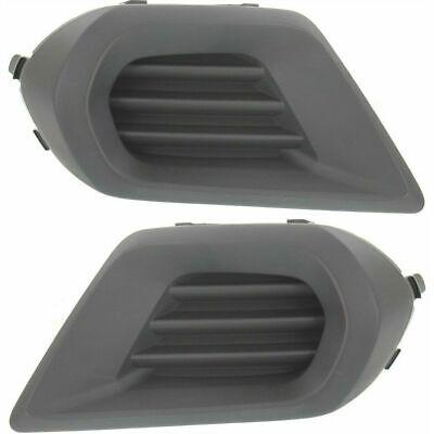 SU1039104 Pair New Fog Light Covers Set of 2 Driver /& Passenger Side SU1038104