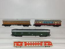 AQ878-1# 3x Liliput H0/DC Bastler-Personenwagen: 30 391 DRG+99-29 841 DB etc