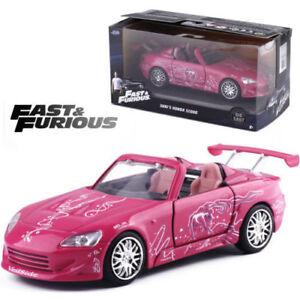 Jada-1-32-Rapido-y-Furioso-SUKI-039-S-Honda-S2000-Rosa-Diecast-Modelo-Vehiculo-Coche-de-juguete