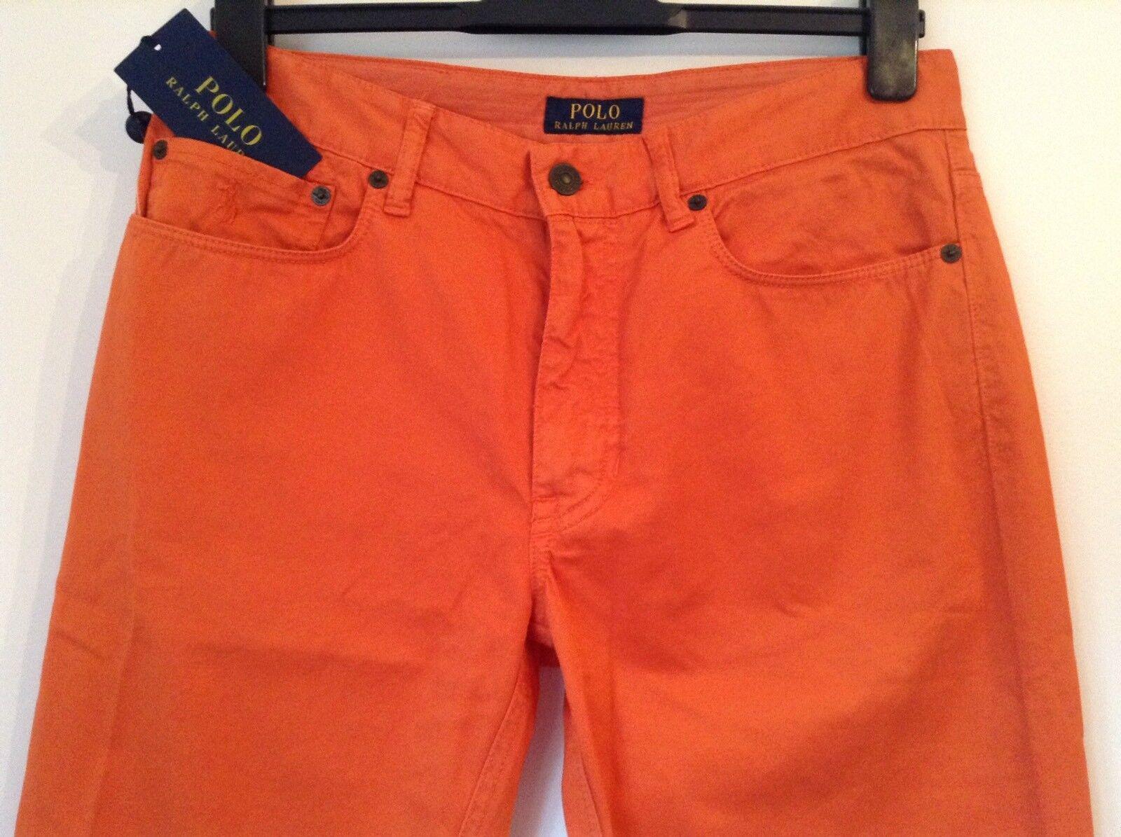 BNWT 100% Auth Ralph Lauren Mens Spring Melon chinos trousers.32 32