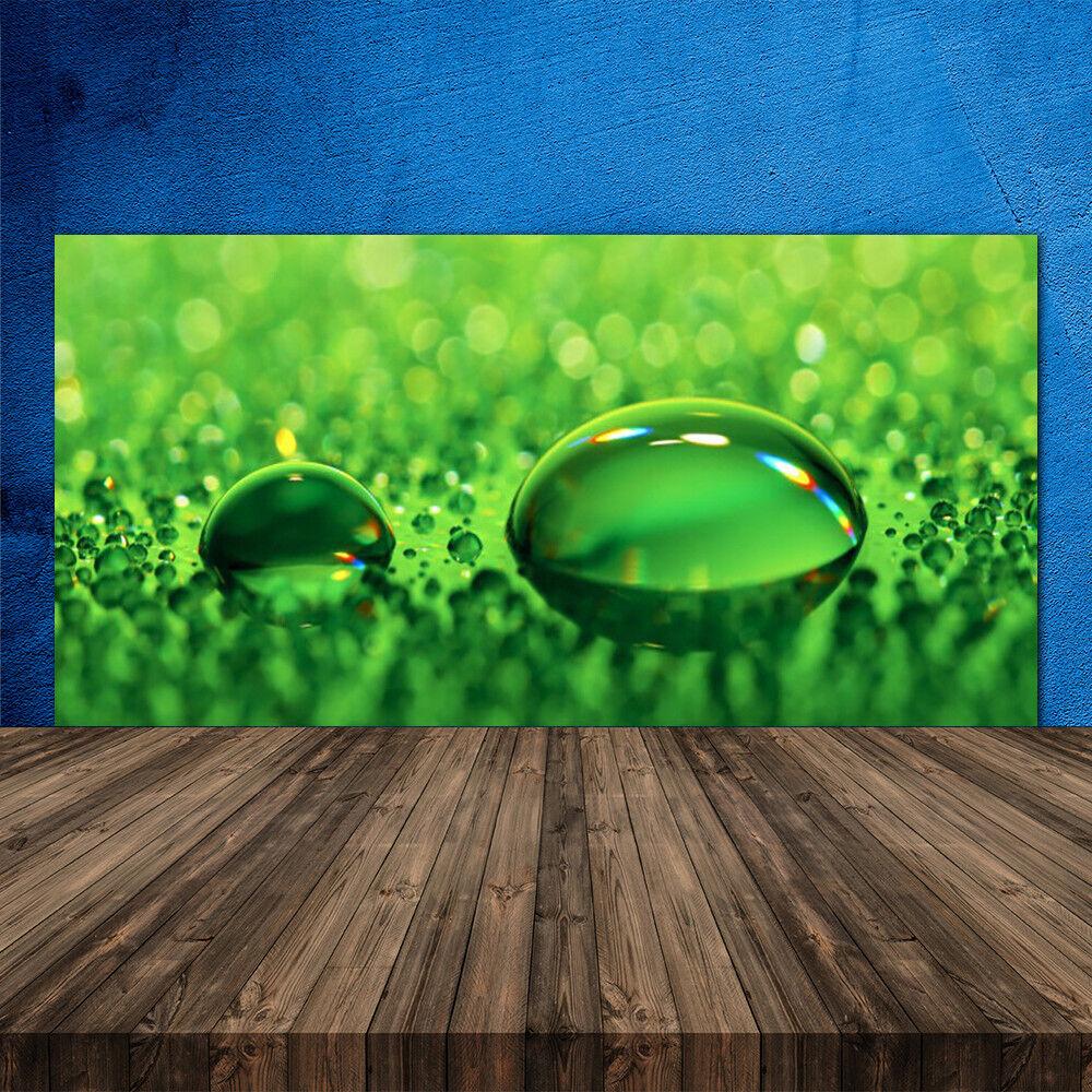 Crédence de cuisine en verre Panneau 120x60 Art Gouttes D'eau