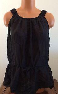 c8dfc23f127 Calvin Klein Women's Sleeveless Blouse Loose Tank Top Tie Waist ...