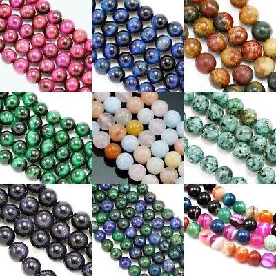 Howlite Rond Perles 4mm Blanc 90 Pces Pierres Semi-Précieuses Artisanat DIY