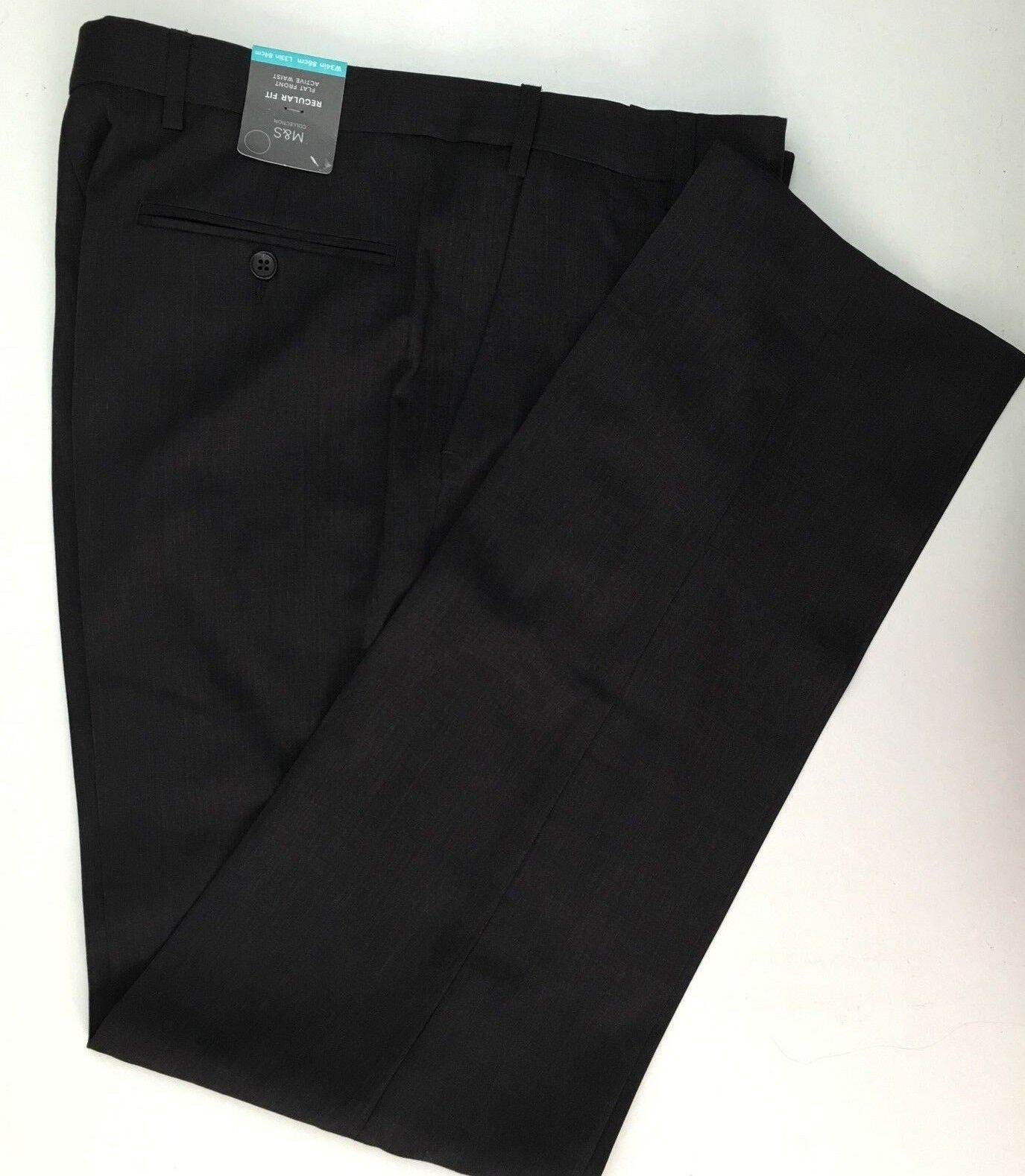 M&S COLLECTION Charcoal Regular Fit Trousers  PRP