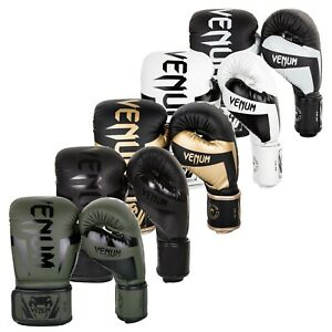Venum Boxing Gloves Muay Thai MMA Training Arts Martial durability Black 16-Oz