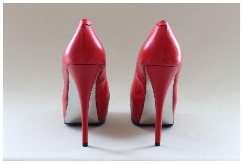 High Heels Pumps Gr. 42 42 42 rote Lederpumps Erogance Echtleder 14 cm Absatz ( 2451) a130ac
