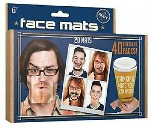 20-Double-Sided-Party-Face-Mats-Drinks-Beer-Face-Coaster-Novelty-Fun-Gift-Idea