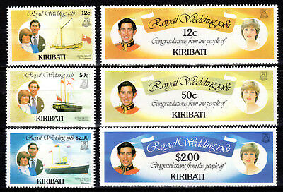 Kiribati - 1981 Royal Wedding - Mi. 371-76 Mnh