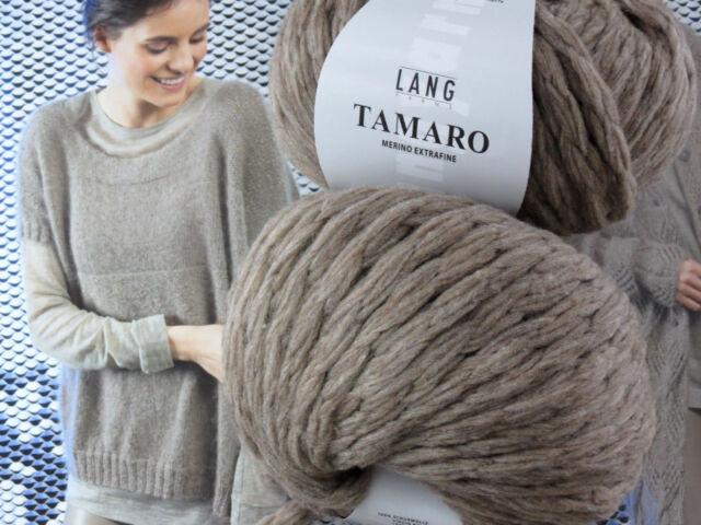 100 g TAMARO chunki knit Taupe Sand Fb 0022 Merino Lang Yarns Lana UVP 14,95 €