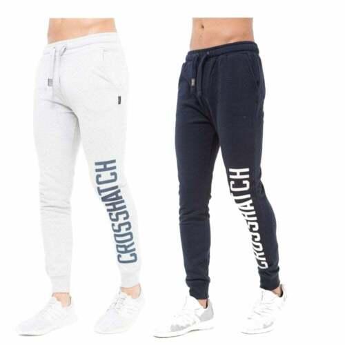 New Crosshatch Mens Rampton Track Suit Bottoms Sweat Pant Jogger Bottoms