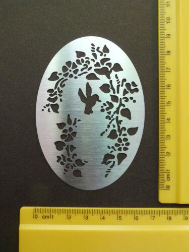 steel//stencil//Oval//Floral//Flowers//Leaf//Bird in flight//Birdhouse//Bird//Emboss//META