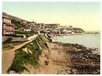 2 Victorian Views Ventnor East West Cliff Isle of Wight Old Photos Set Poster