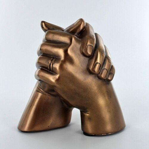Marriage Holding Hands Cold Cast Bronze Sculpture 34172