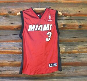 Nba Basketball Jersey Dwyane Wade 3 Miami Heat Kids Youth M 10 12 Reebok Ebay