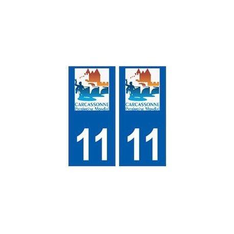 11 Carcassonne logo ville autocollant plaque droits