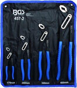 BGS-457-2-4-Teiliges-Wasserpumpenzangen-Set-Pipe-Wrench-Weiterverst-Roll-Bag