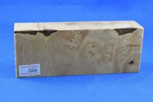 Stabilized-Maple-Burl-Knife-Scales-Handle-Block-Pen-1606