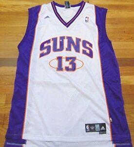 ADIDAS NBA PHOENIX SUNS STEVE NASH HOME WHITE SWINGMAN JERSEY SIZE ... 2498f0fa4