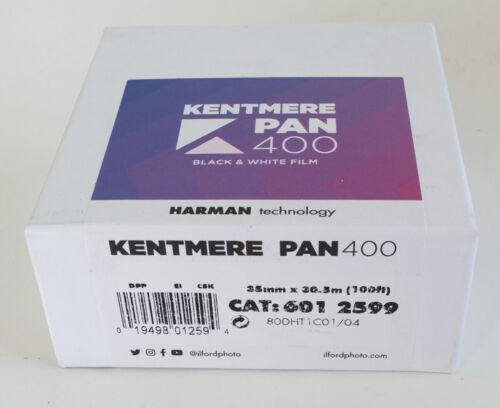 Kentmere PAN400 Black /& White 35mm x 30.5m Bulk Film