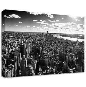 new york skyline leinen gro e wandkunst schwarz und wei ebay. Black Bedroom Furniture Sets. Home Design Ideas
