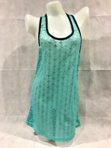 MIKEN-Swim-Beach-Vacation-Cruise-Coverup-Lace-Dress-Mint-Green-NWT-10-12-Large