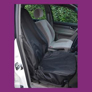Front Single Car Van Black Waterproof LARGE Universal Airbag Seat Covers