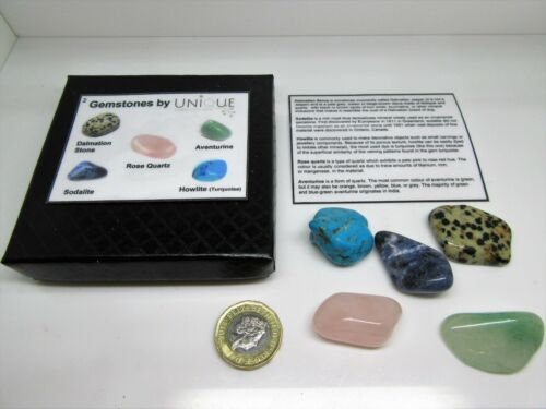 Gem stone /& Rock selection Box 2 fab geology crystal nature gift for collector