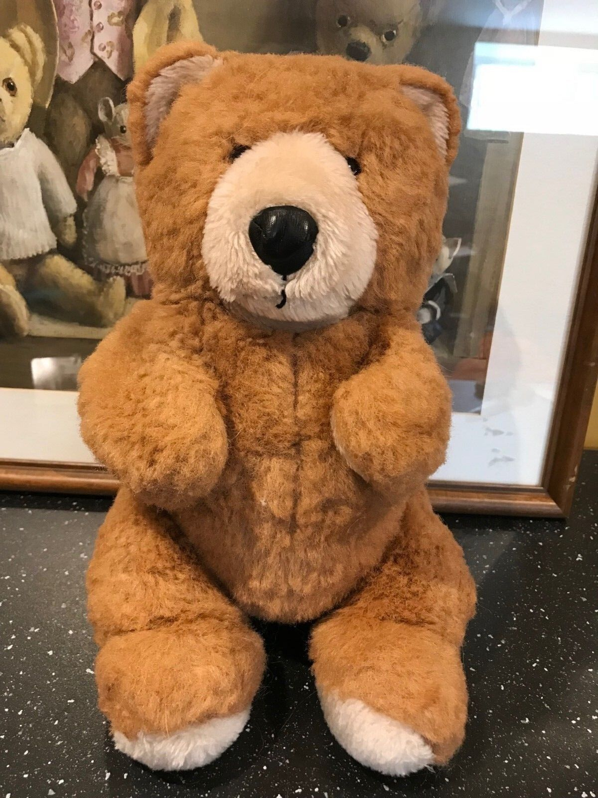 Vintage No Name Braun Teddy Bear Puppet 11 inch