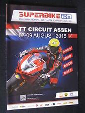 Programmaboekje Superbike IDM TT Circuit Assen 07-09 August 2015