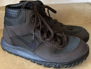 Details about Mens 8 M Nike ACG Nike Takos Mid LE Hiking Boots Lace-Up  Ankle Brown Green Shoes