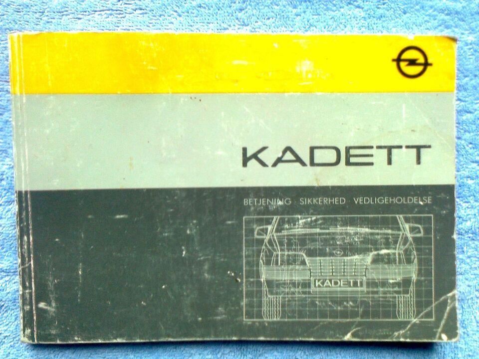 Kadett, Instruktionsbog