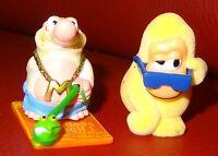 2 Figuren Mission Maulwurf Handtuchkrieg auf Mallorca Dr. Mole Ü-Eier, Affe gelb