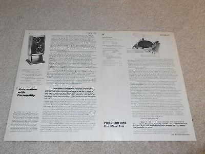 100% Wahr Sansui Fr-d4 Plattenspieler Review, 2 Seiten, Full Test, 1980 GroßEs Sortiment