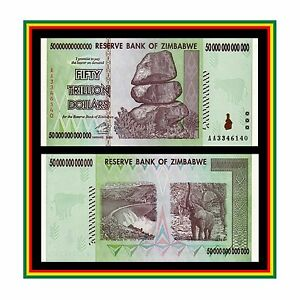 Image Is Loading 50 Trillion Zimbabwe Dollar Money Currency Uncirculated Unc