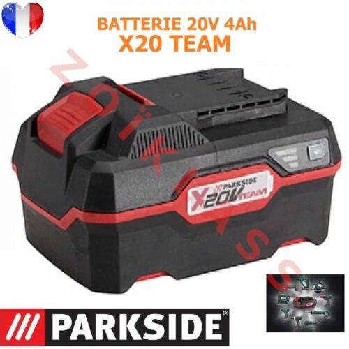 batteriegrande capacité 20 V 4 Ah  Lithium-ions Parkside série XTEAM