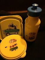 Minions 3 Piece Lunch Set Sandwich Box, Snack Bowl, And Water Bottle