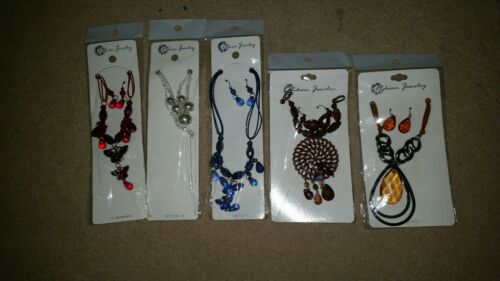 5 Jewellery necklace /& earnings set joblot brand New ladies accessories Fashion