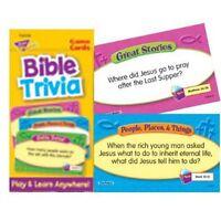 Trend Enterprises Bible Trivia Flash Cards , New, Free Shipping