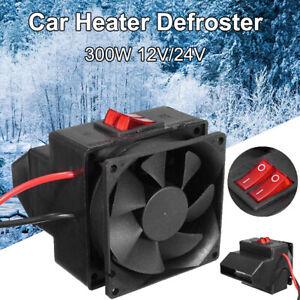 KE_ 12V/24V 300W Winter Car Electric Heater Heating Fan Window Defroster Demis