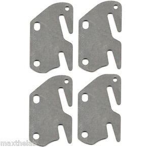 4 Bed Rail Double Hook Flat Slot Plates Fits 2 Quot Bracket Or