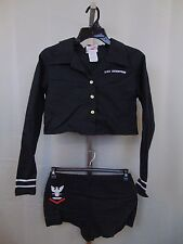 Sexy Navy Lady Halloween California Costumes Top & Shorts NWOT Medium #1325